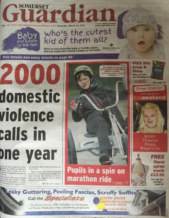 Rosa Gray Front Page News Somerset Guardian